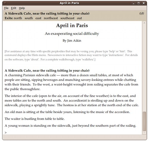 Screenshot of April in Paris